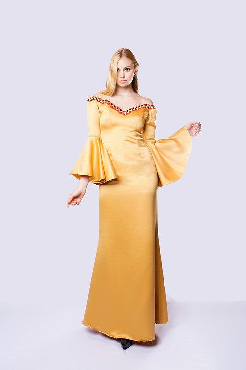 GOLDEN SABRINA DRESS