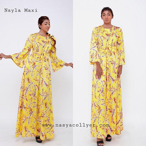 Nayla Yellow Maxi Dress
