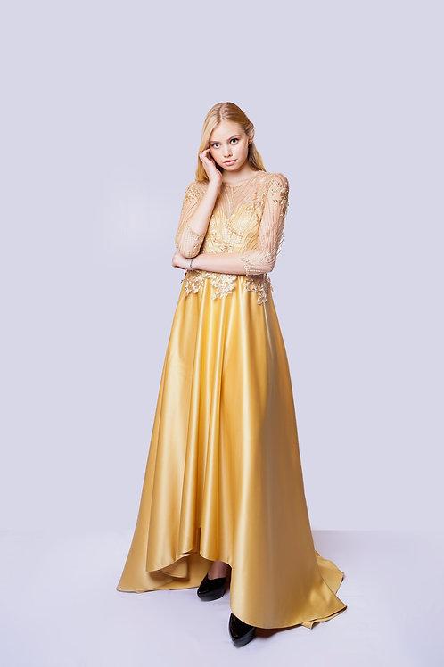 LACE GOLDEN DRESS