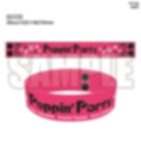 Anisama_Poppin'Party Wristband.png
