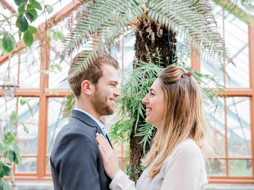 Loveshoot in de botanische tuin