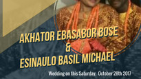 Wedding bell! Bose and Micheal tieing the knot this Saturday.