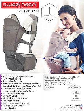 Sweet Heart Paris Foldable Hipseat AlphaX Nano Air Baby Carrier