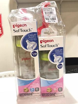 Pigeon SoftTouch Nursing Bottle (Glass) 160ml + 240ml + Free Gift!