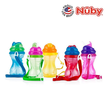 Nuby Flip It Straw Cup with Carrying Strap 420ML