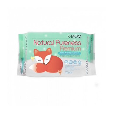 K-MOM Organic Wipes EMBO 20's