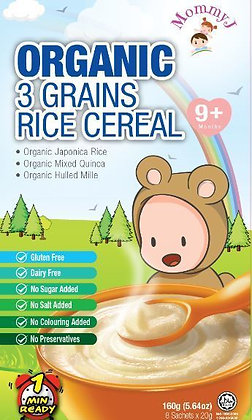 MommyJ 3 Grains Rice Cereal