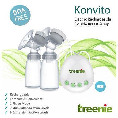 Treenie Konvito Rechargeble Double Breast Pump