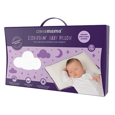 Clevamama ClevaFoam Baby Pillow - White