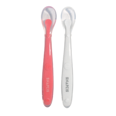 Snapkis Silicone Baby Weaning Spoons (CoralGrey)