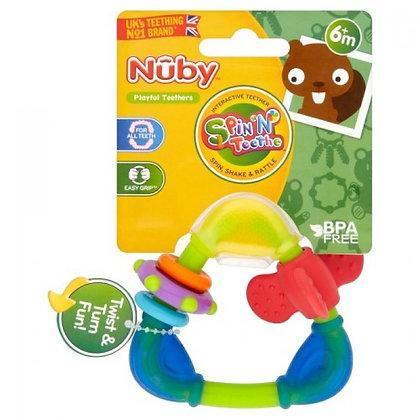 Nuby Spin N' Teethe Triangle Teether - 6m+