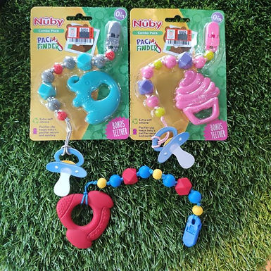 Nuby beads soother clip and teether