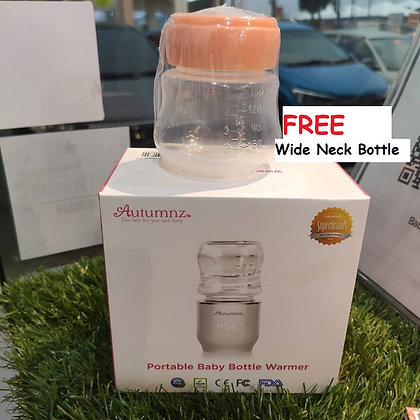 Autumnz - Portable Baby Bottle Warmer (FREE one Bottle)