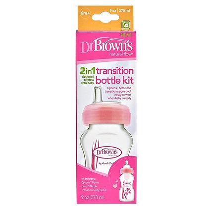 Dr Browns 2in1 Wide Neck Transition Bottle Kit