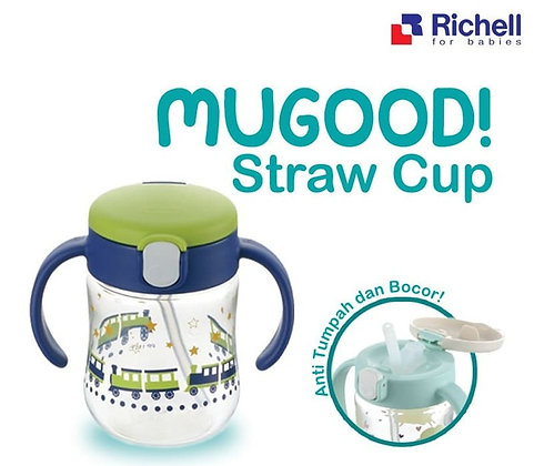 Richell Mugood Straw Cup 200ML - 7m+