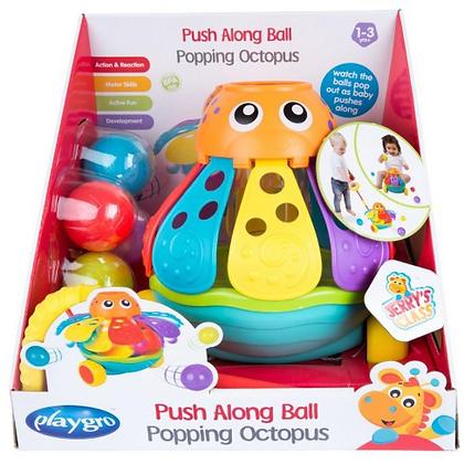 Playgro Push Along Ball Popping Octopus baby toys