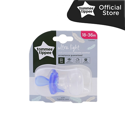 Tommee Tippee Ultra Light Soft One-Piece Silicone Soother