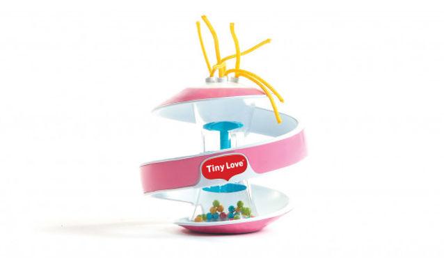Tiny Love Inspiral Rainstick Ball - Turquoise/Pink