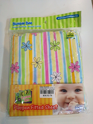"""Bumble Bee Playpen Fitted Sheet (28' x 41"""" x 2"""")"""