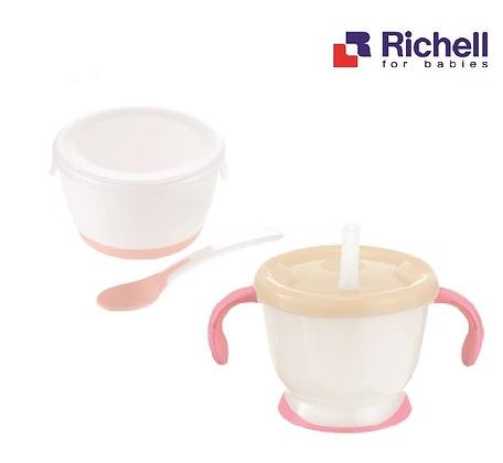 Richell AQ Cup De Mug + Weaning Bowl Set