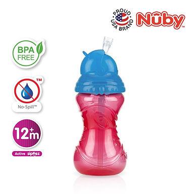 Nuby Click-It Flip-It Straw Bottle 360ml