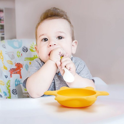 Naforye Crown Non-Plastic Baby Bowl