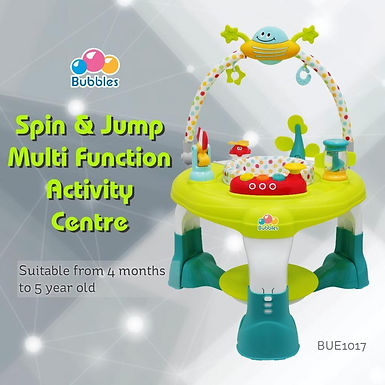 Bubbles Spin & Jump Multi Function Activity Center