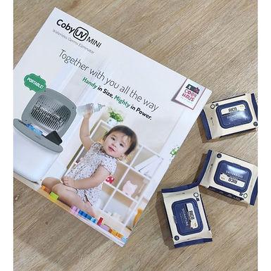 Coby UV Mini Sterilizer FREE ( RICO Signature Wet Wipes 20pcs X 3packs )