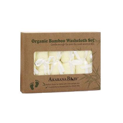 Akarana Organic Bamboo Washcloth Set