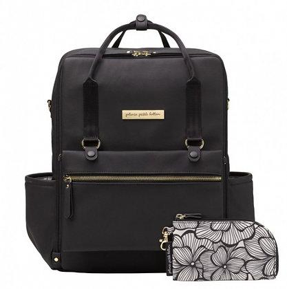 Petunia Pickle Bottom Balance Backpack - Black Matte Leathererrete