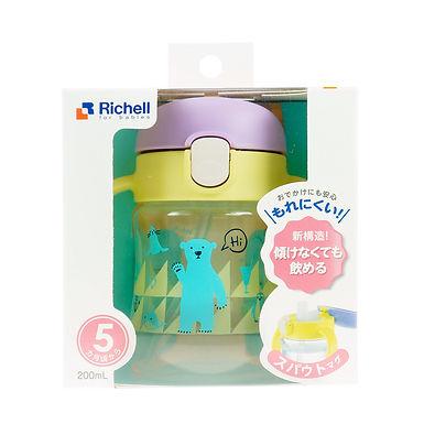 Richell TLI Straw Bottle Mug 7m+ - Yellow