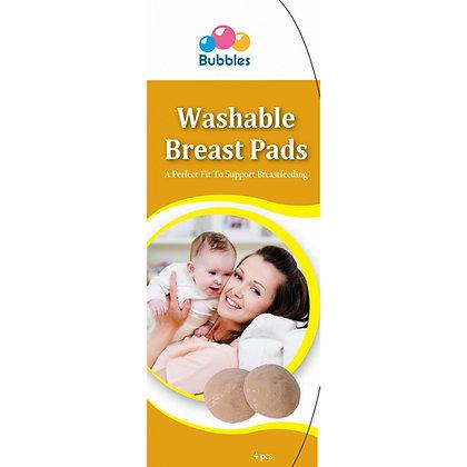 Bubbles Washable Breast Pads (4psc)