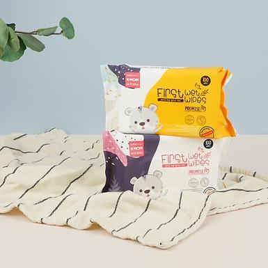 K-MOM first Wipes Plain Wet Tissue 100's