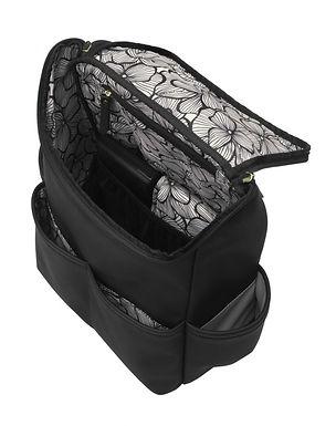 Petunia Pickle Bottom Method Backpack In Black Matte Leatherette