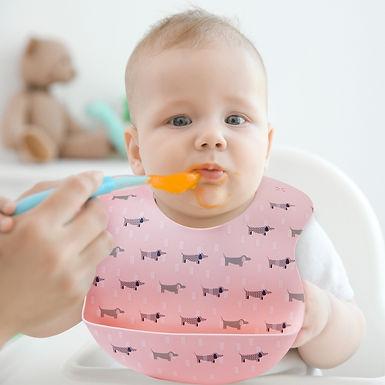 Naforye Baby Silicone Feeding Bib