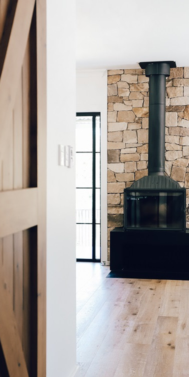 Fireplace Stone Feature Wall