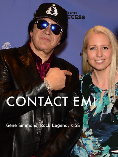 Gene Simmons and Emi Golding taking a selfie