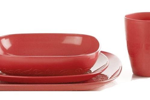 Set of 12 Plastic Plates-طقم أطباق بلاستيك 12 قطعة