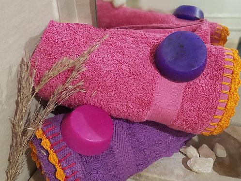 2 Pcs hand towel set -  طقم فوط 2 قطعة