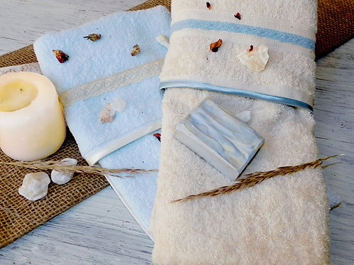 2 Pcs Mix & Match hand towel set - طقم فوط 2 قطعه ميكس