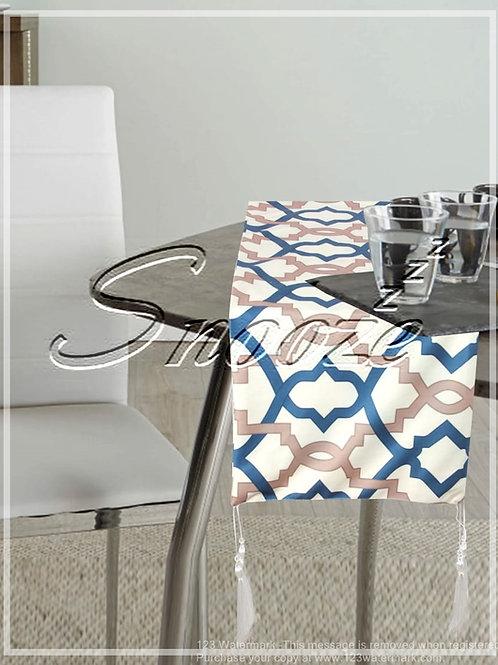 Table runner, Multi color, Blue - مفرش طاوله, منقوش, أزرق