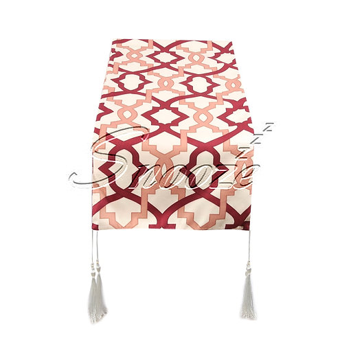 Table runner, Multi color, Red - مفرش طاوله, منقوش, أحمر