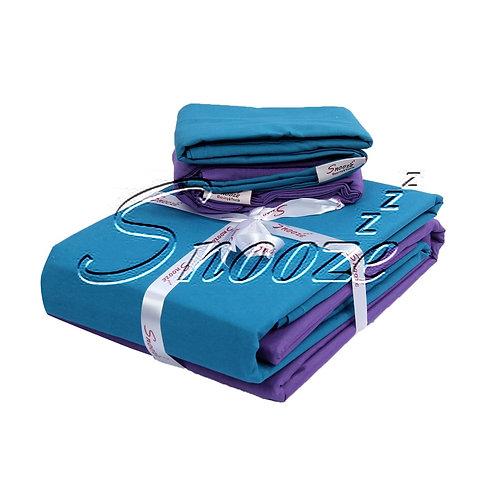 Plain fitted bed sheet set -  طقم سرير ملاية بأستيك سادة