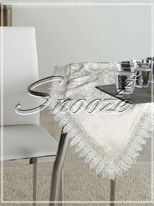 Table Runner , White - مفرش طاولة , أبيض