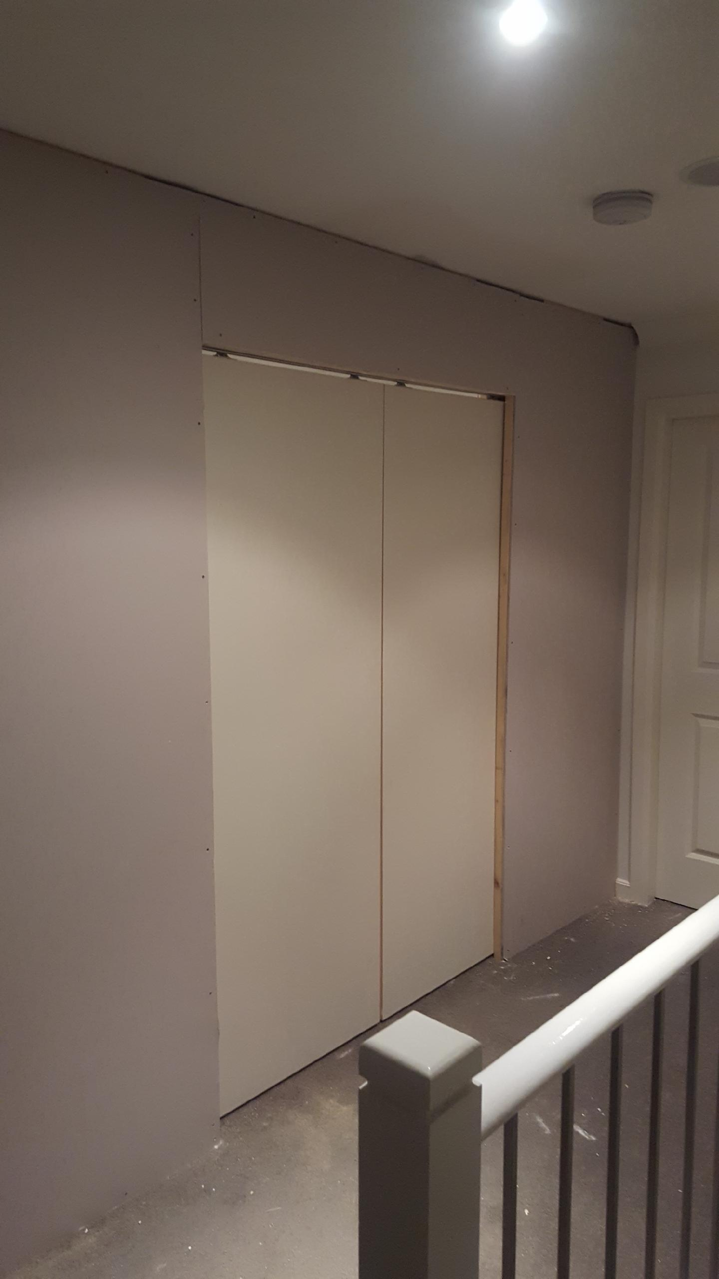 Wall With Internal Sliding Door