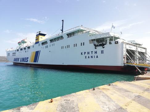 Το Κρήτη 2 στο λιμάνι της Σούδας
