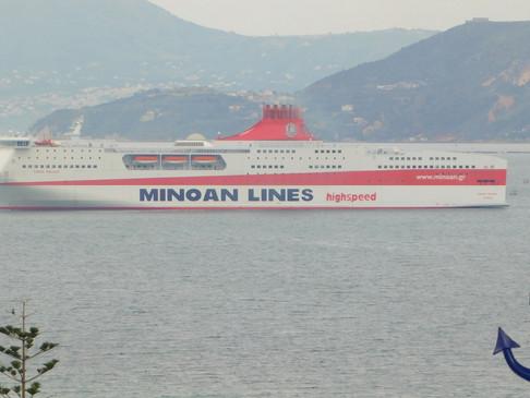 """Το """"Κύδων Παλάς"""" το ταχύτερο, νεώτερο και οικολογικό Cruise Ferry συνδέει τα Χανιά με τον Πειραιά"""