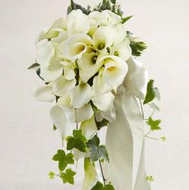 White Calla Lily Cascade Bouquet