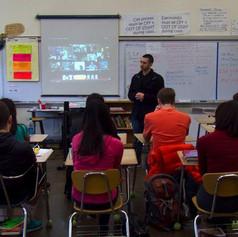 Visiting Grant High-school as guest speaker, 2014