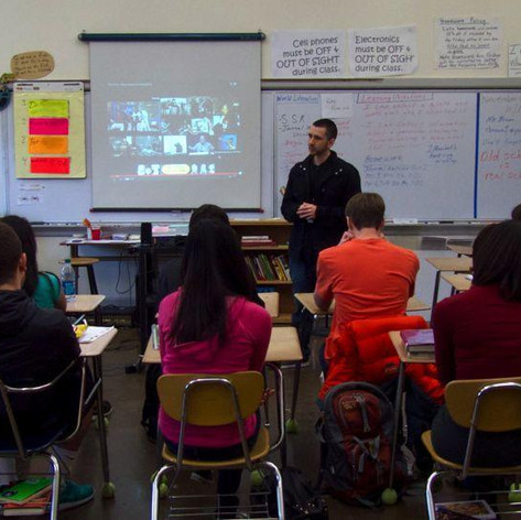 Visiting Grant High-school as guest speaker, 2014